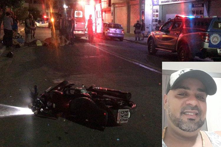 Livramento de Nossa Senhora: Motociclista morre após colidir contra árvore na Avenida Leônidas Cardoso