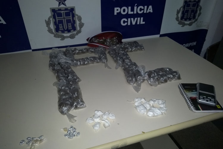 Casal apontado como gerente do tráfico é detido com grande quantidade de drogas em Brumado