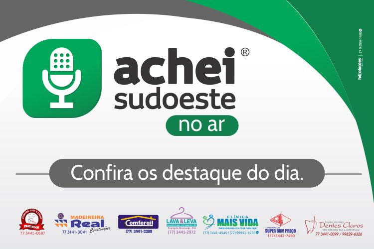 Achei Sudoeste no Ar estreia com sucesso pelas ondas da Rádio Alternativa FM 97,9