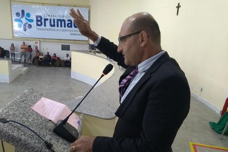 Girson Ledo é novamente empossado em sessão solene realizada na Câmara de Vereadores de Brumado