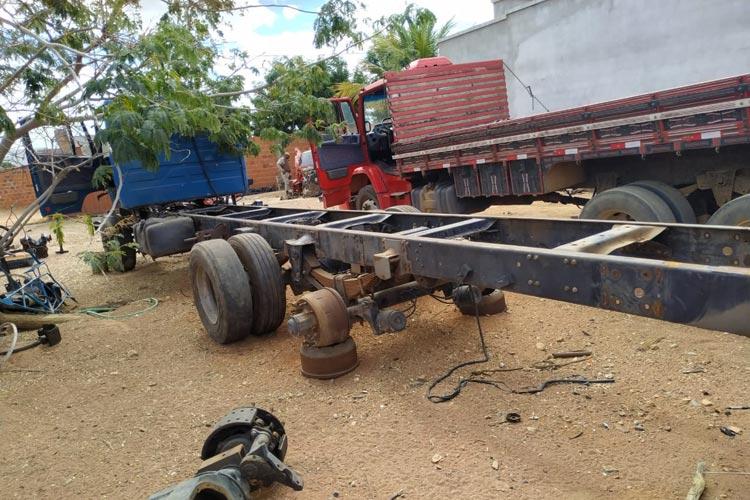 Guanambi: PM desarticula quadrilha de receptação de caminhões furtados