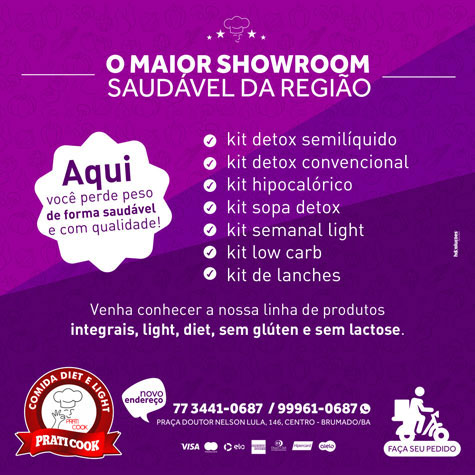 Praticook: O maior showroom saudável em Brumado