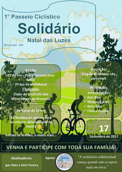 Ciclistas convocam comunidade para primeiro passeio solidário de Brumado