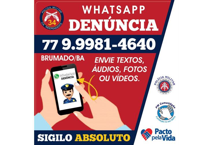 'WhatsApp Denúncia' garante resultados animadores ao trabalho da PM em Brumado