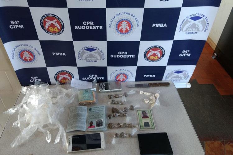 Indivíduo é preso com drogas na cidade de Caetité
