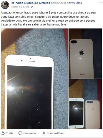 Homem acha iPhone e tenta localizar dono na web: 'Preciso devolver'