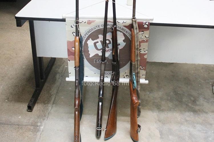 Cipe Sudoeste realiza apreensão de armas de fogo no Distrito de Itanagé em Livramento de Nossa Senhora