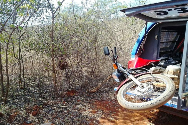 Brumado: Moto furtada no Bairro São Félix é recuperada na zona rural