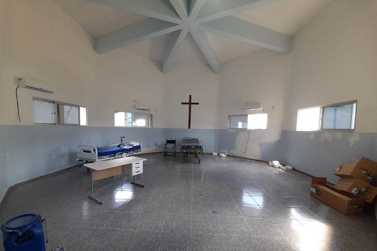 Brumado: Capela do hospital está sendo preparada para receber 10 leitos clínicos da Covid-19