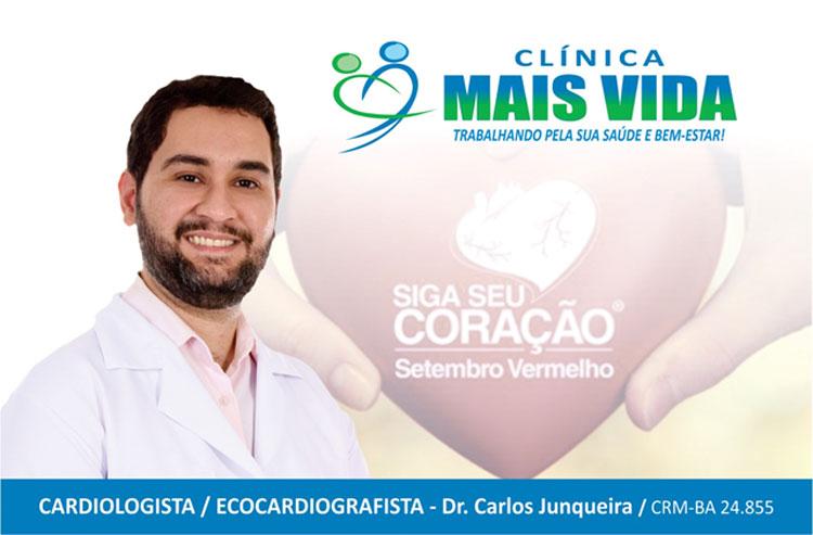Cuide da saúde do seu coração, tenha hábitos saudáveis, alerta Carlos Junqueira
