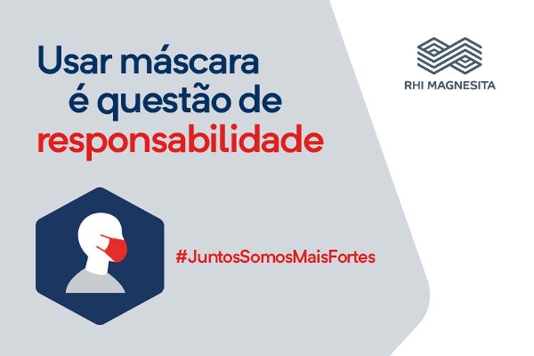 RHI Magnesita: Usar máscara é questão de responsabilidade