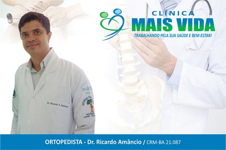 Ortopedia na Clínica Mais Vida com o  especialista Ricardo Amâncio