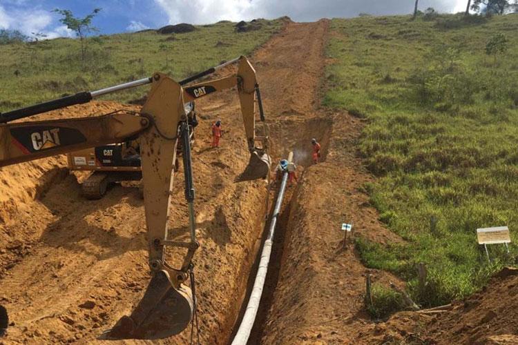 Obras do Gás Sudoeste que chegará a Brumado seguem de vento em popa