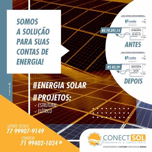 Conect Sol é a solução para economia nas suas contas de energia