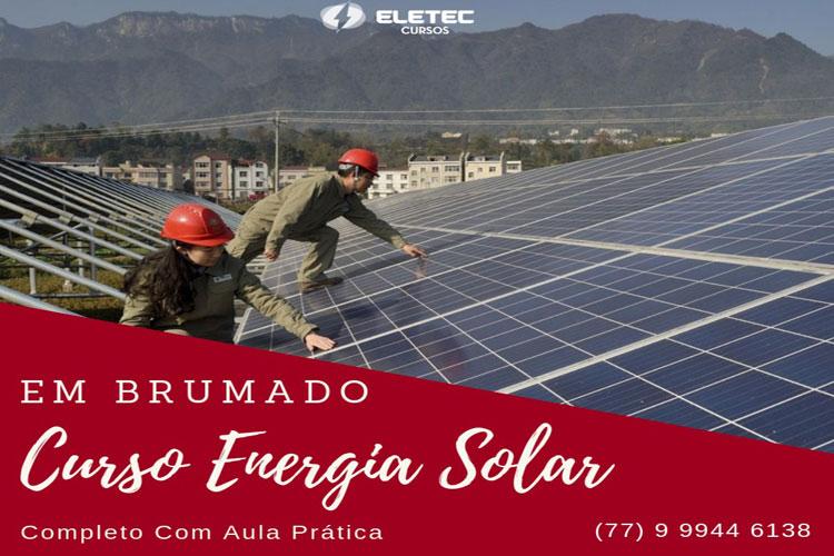 Curso de Energia Solar será realizado na cidade de Brumado entre os dias 25 e 28 de abril