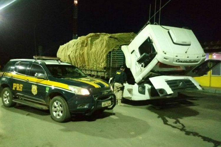 Barreiras: Polícia apreende caminhão com placa clonada de Livramento de Nossa Senhora