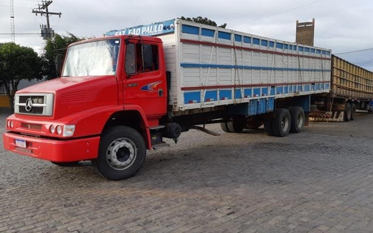 Polícia resgata 18 cabeças de gado furtados dentro de caminhões na Chapada Diamantina