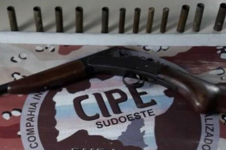 Licínio de Almeida: Caesg apreende arma e munições na zona rural