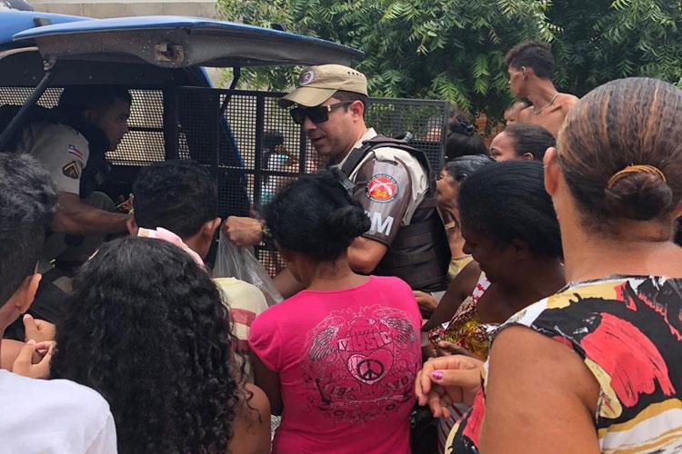 34ª CIPM arrecada doações para Natal Solidário em Brumado