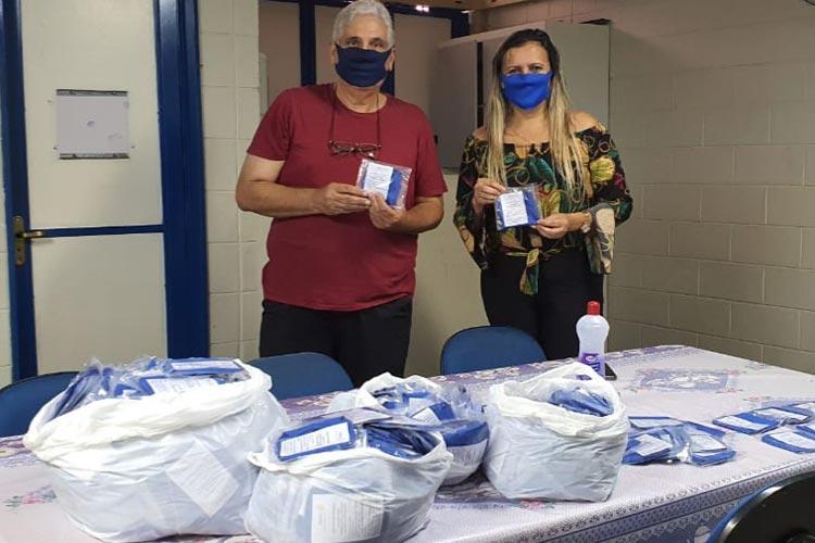 Coronavírus: Rotary doa 7600 máscaras para serem entregues junto as cestas básicas da Prefeitura de Brumado