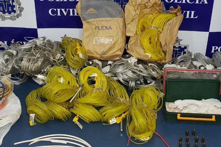 Livramento: Proprietário de mineradora é preso com explosivos acusado de causar incêndio na região