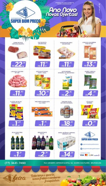 Confira as promoções desta quarta (29) no Supermercado Super Bom Preço em Brumado
