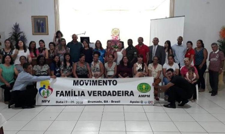 Subtenente do Tiro de Guerra de Brumado participa do encontro Movimento Família Verdadeira