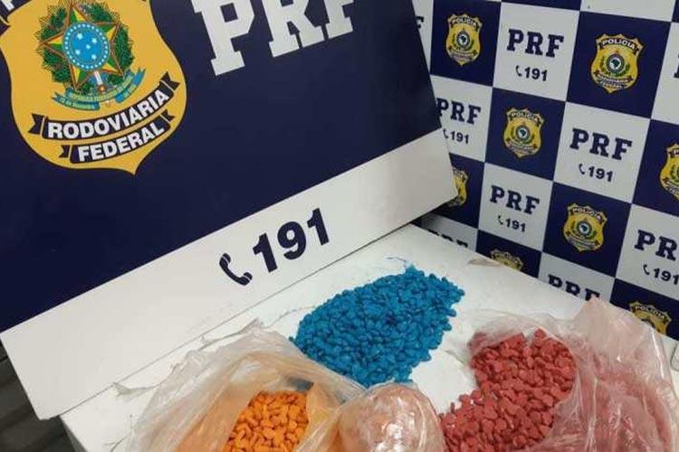 Vitória da Conquista: Homem é preso com 4 mil comprimidos de ecstasy