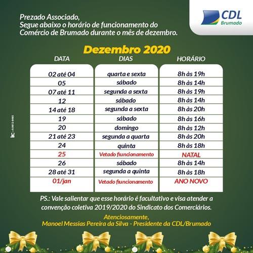 Comércio de Brumado funcionará em horário especial neste mês de dezembro