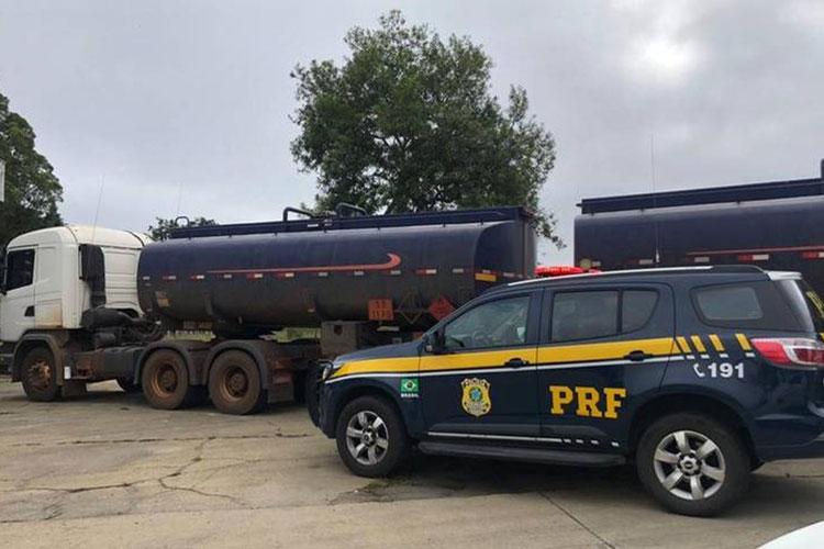 Nova carga com 43 mil litros de combustível com documentação irregular é apreendida em Conquista
