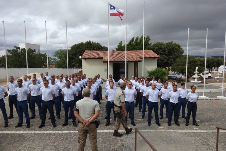 Guanambi: 17º BPM recebe 60 candidatos de concurso público para curso de formação de soldados