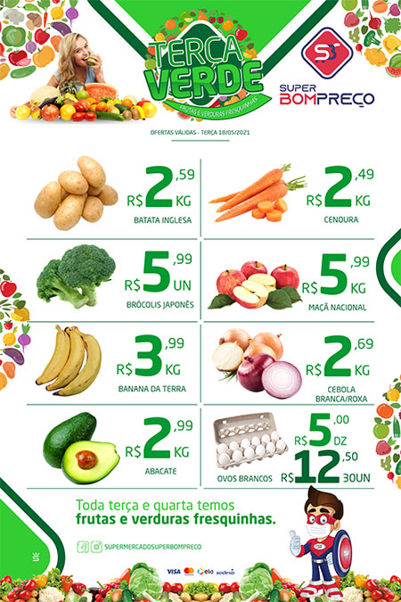 'Terça Verde': Confira as promoções no Supermercado Super Bom Preço em Brumado