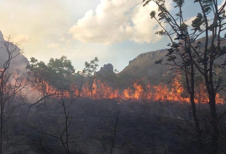 Piatã: Incêndio atinge Vale dos Três Morros e destrói vegetação na Chapada Diamantina