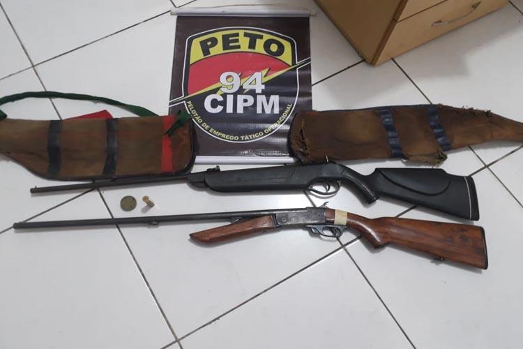 Lagoa Real: Polícia apreendeu armas e munição na residência no Pancadão