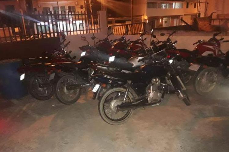 PM apreende 16 motos com irregularidades no distrito de Maniaçu em Caetité