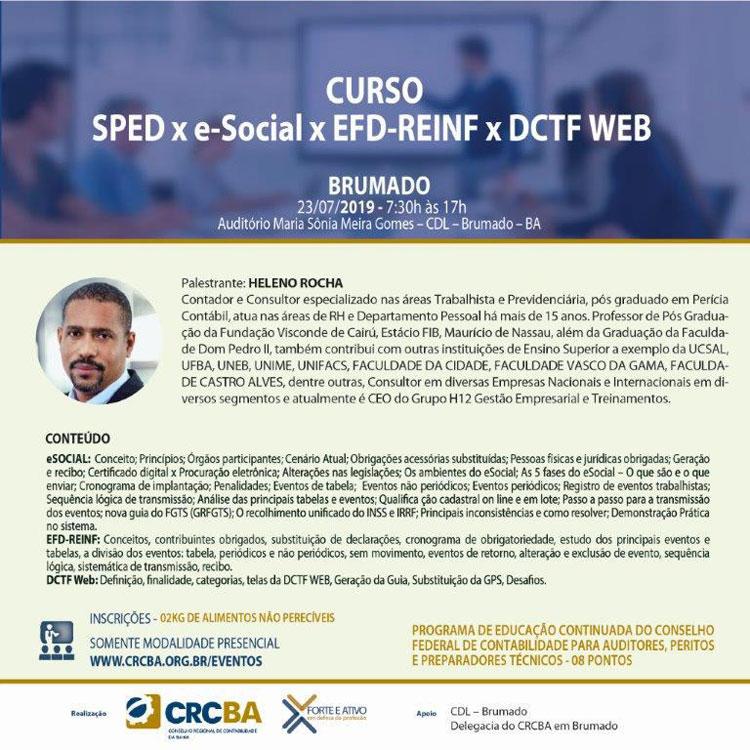 CRF e CDL de Brumado promovem curso de contabilidade no dia 23 de julho