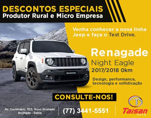 Produtor rural e microempreendedor têm descontos especiais na Taisan Auto em Brumado
