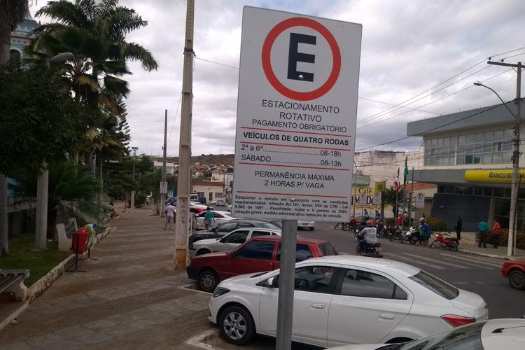 Brumado: Zona Azul recebe placas de sinalização e monitoramento de instrução ainda nesta semana