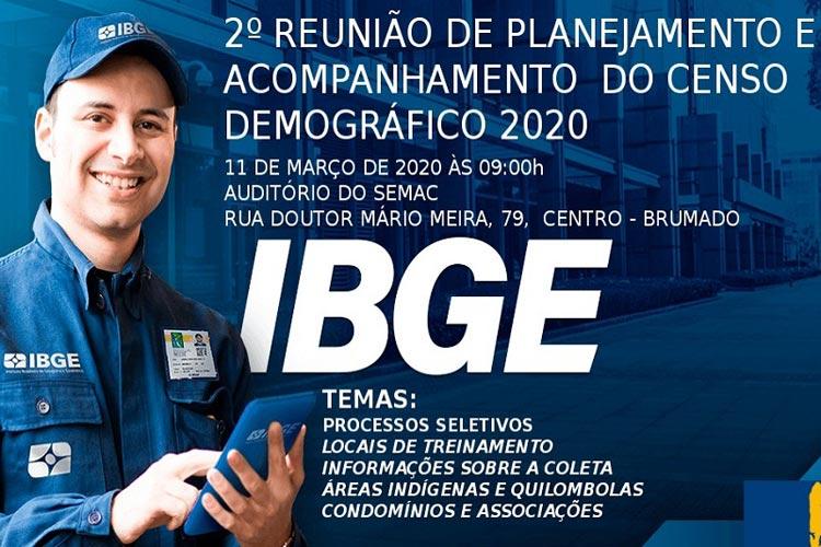 Brumado: IBGE promoverá segunda reunião de planejamento e acompanhamento do Censo 2020