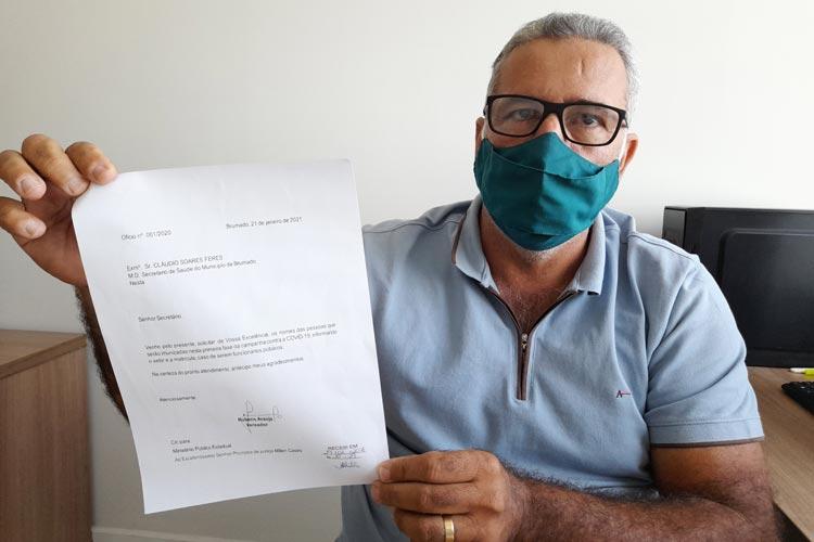 Vereador quer evitar 'fura fila' na vacinação contra o coronavírus em Brumado