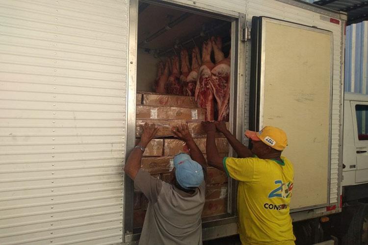 Brumado: PRE apreende caminhão com 3 toneladas de carne sem nota fiscal