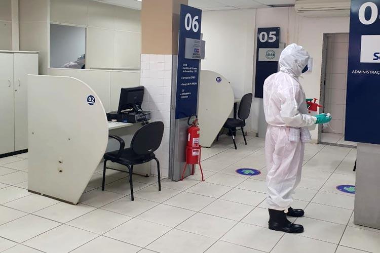 Brumado: Corpo de Bombeiros realiza desinfecção do SAC