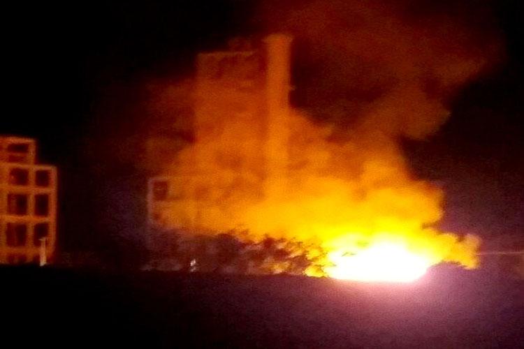 Incêndio é registrado na fábrica de cimento Itaguarana em Ituaçu