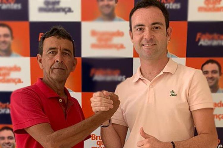 Eleições 2020: Fabrício Abrantes recebe apoio do ex-vereador Romar Pereira em Brumado