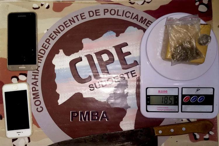 Indivíduo é preso por tráfico de drogas na cidade de Paramirim