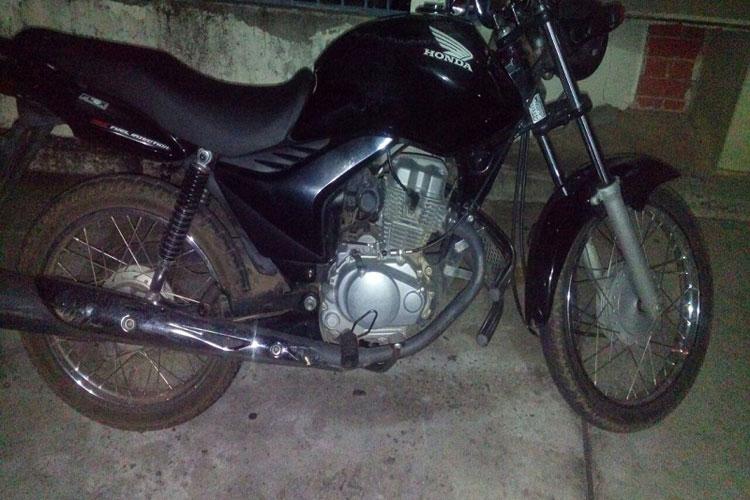 Brumado: Polícia recupera moto roubada de proprietário que foi baleado durante ação