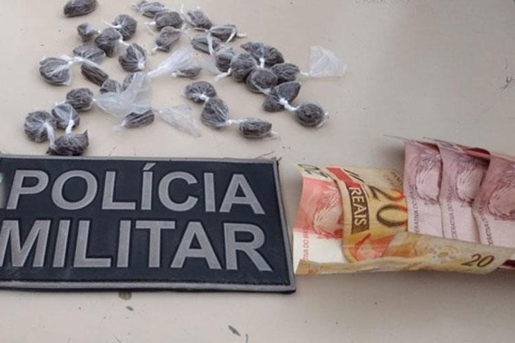 Guanambi: Menor é apreendido com drogas em sua residência no Bairro Novo Horizonte