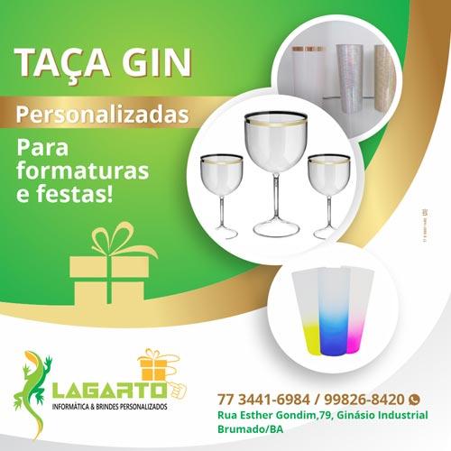 Encomende os seus brindes personalizados na Lagarto em Brumado