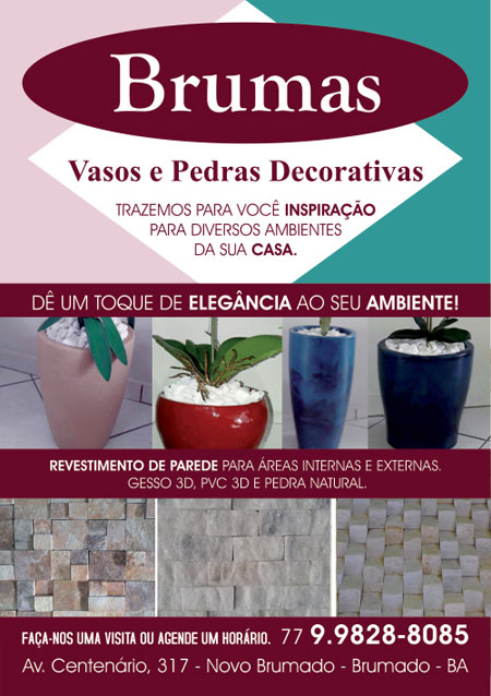 Conheça os vasos e pedras decorativas da loja de decoração Brumas