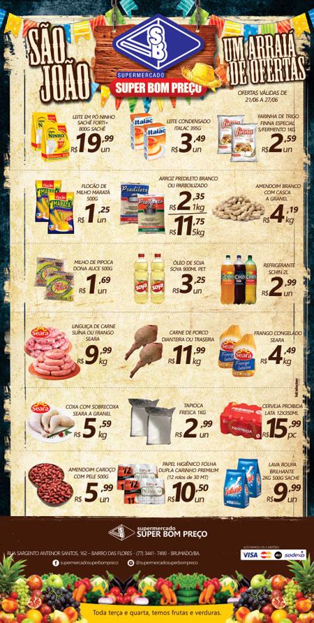 Confira as promoções no Arraiá de Ofertas do Supermercado Super Bom Preço em Brumado